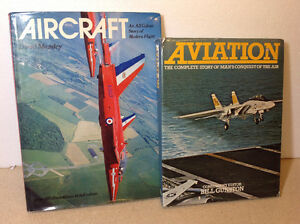 2 vintage aviation books from 1973 & 1978