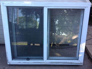 "WINDOW DOUBLE SLIDER  34""W X 26.5""H & 51""x 39""H"
