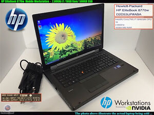 "HP Laptop EliteBook 8770w 17.3"" Intel Core i7 3840QM (2.80 GHz)"