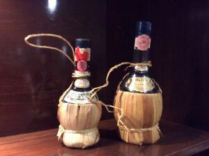 Bouteille de vin chianti vintage