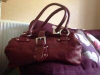 Red small handbag