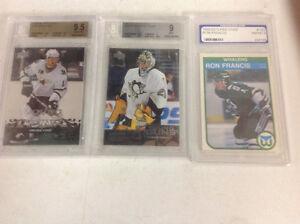 Graded hockey cards