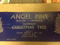 4ft Angel pine Christmas tree reto vintage