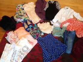 Large bundle of girls clothes ages 9-10 years