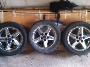 pontiac chrome rims with bridgestone potenza tires
