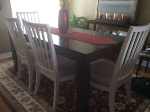 solid wood tall slatted back chairs (only)