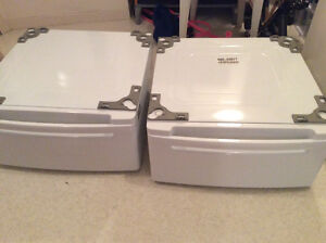 LG brand pedestal drawers for washer and dryer