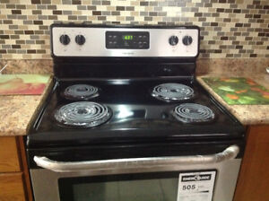 Electric coil cooking range