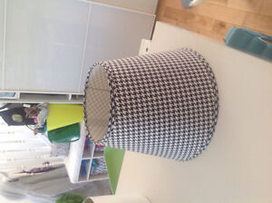 Houndstooth black and white lamp shade