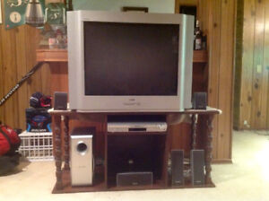 "32"" RCA Flat screen TV & home theatre system for sale"
