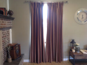Custom curtains and valance
