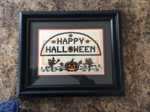 18 x 15 Halloween frame cross stitch