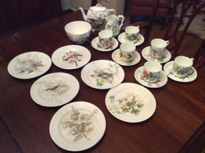 1883 hand painted China tea set
