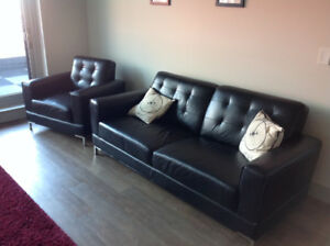 Sofa and Chair (Leather Look) from the Brick