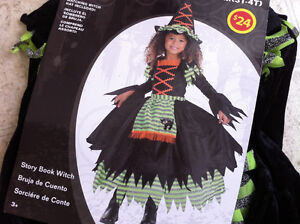 Brand New Kid Costume Story Book Witch