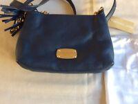 Michael Kors genuine leather navy blue shoulder bag