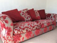 Large sofa and footstool