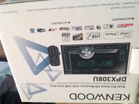 Ken wood Dual Din Sized CD Receiver with USB Interface