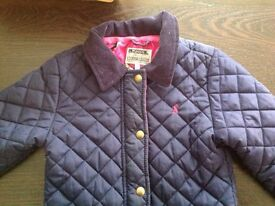 Girls Tom Joules Quilted Navy Jacket