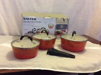 Salter 4-piece Saucepan Set