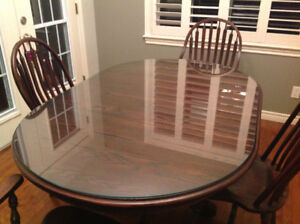 """Protect your dining room table top with glass 40"""" x 62"""""""