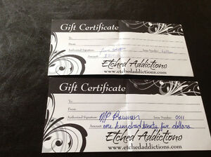 Etched Addictions Tattoo gift certificates