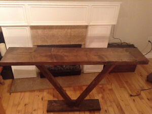 """Rustic hall / entry table h 29"""" d 9"""" l 48"""" $60.00"""