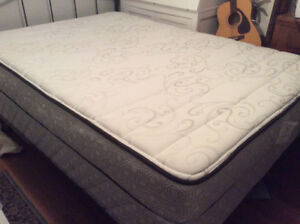 Double bed and box spring.