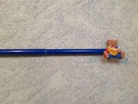 Teddy bear blue curtain rod