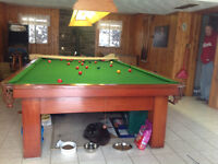Antique pool table 1945 New Brunswick pool table