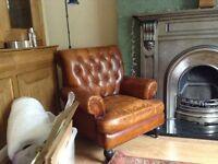 Wallace Sacks Chestnut Armchair
