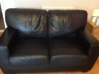 Two Seater Leather Effect Sofa Very Good Condition