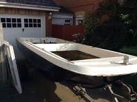 17ft open dory fast fishing jet boat -winter project