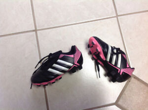 Girls Adidas soccer cleats size 10