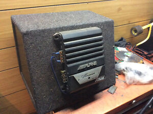 Sub, box and amp package