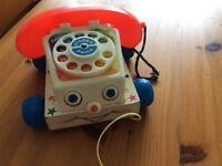 Original vintage fisher price toy telephone