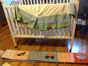 Nautica crib bumpers and skirt