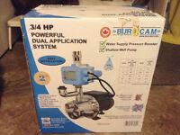 Brand NEW Burcam 3/4 HP Jet Pump and Pressure System