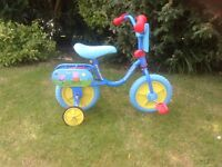 Peppa Pig Bicycle, Toddler Bike With Stabilisers