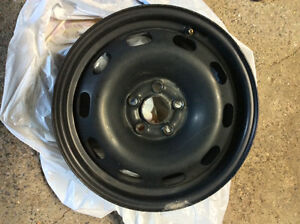 Set of 4'black steel rim for 2010 VW golf