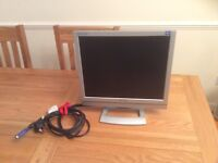 "Medion Flat Screen Monitor 17"""