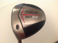 USED LH TITLEIST 907 D2 9.5* IN STIFF FLEX WITH HEADCOVER