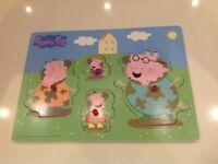 Peppa Pig wooden puzzle/ shape sorter