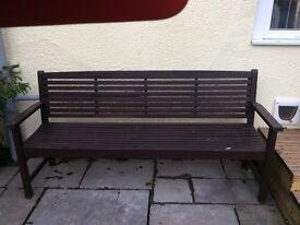 Large garden bench