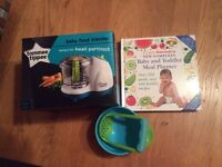 Brand new Tommie tippee baby blender and cookbook