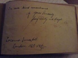 Autographs 1930s