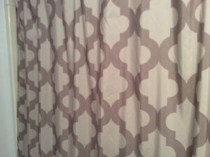 Shower curtain, grey and more