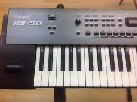 Roland RS-50 61 note, 64 voice synthesiser keyboard