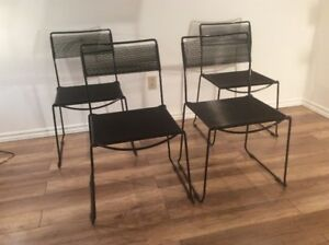 4x Chaises Spaghetti Retro-4x Vintage Belotti Chairs