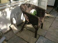 Whicker chair, Lloyd loom style